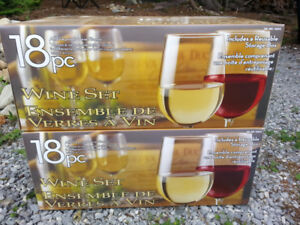 2 Brand New Sets of Wine Glasses - $30 per set or $50 for both