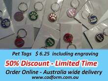 Deluxe Pet Tags - with engraving Prestons Liverpool Area Preview