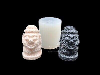 Jeju statue M, Silicone Mold Chocolate Polymer Clay Jewelry Soap Wax Resin