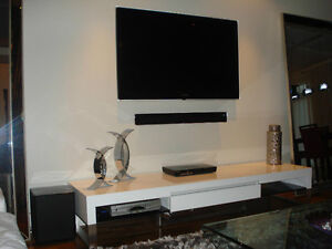 tv murale installation. Black Bedroom Furniture Sets. Home Design Ideas