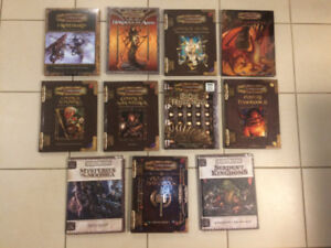 Dungeons and Dragons AD&D RPG Massive Book Collection For Sale!