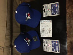Two blue jays tickets two brand new had and 2 gift cards