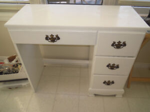 Small white desk - solid wood
