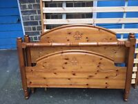 Lovely double pine bed