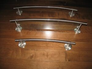 Towel Bars and Glass Shelf For Sale