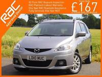 2010 Mazda 5 2.0 Takara Auto 7 Seater MPV Air Conditioning Just 2 Lady Owners On