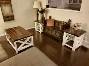 Coffee Table / End Tables - brand new, custom built