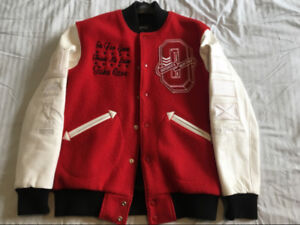 DRAKE OVO ROOTS 2011 RED VARSITY JACKET SIZE MEDIUM 1/20
