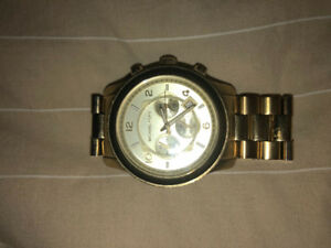 Michael Kors Runway Chronograph Watch Gold Tone