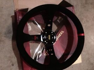 Brand new omp steering wheel