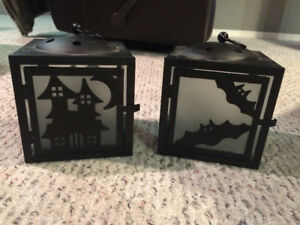 Set of 2 Halloween Candle Lanterns
