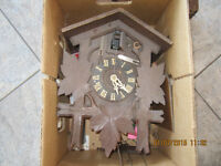 2 WOODEN COOCO CLOCKS AND CLOCK FRAME FOR MANTLE