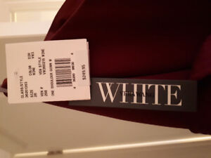 Vera Wang Wine coloured,  one shoulder gown