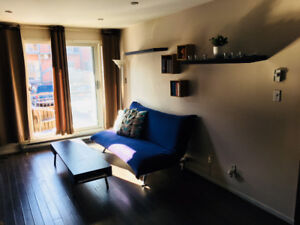 Super cozy/chic apartment  close to downtown Montreal, furnished