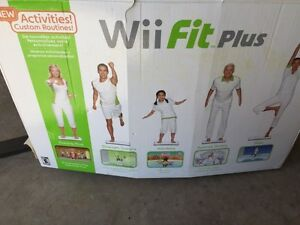 Wii fit plus game and board