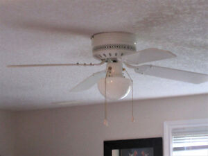Ceiling Light and Fan and 2 Ceiling Lights