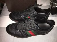 Real genuine leather men's Gucci trainers/shoes