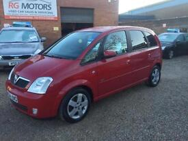 2004 Vauxhall Meriva 1.8i 16v ( a/c ) Design Red 5dr MPV, **ANY PX WELCOME**