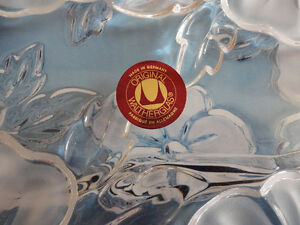 Brand new in box decorative glass crystal floral serving tray London Ontario image 3