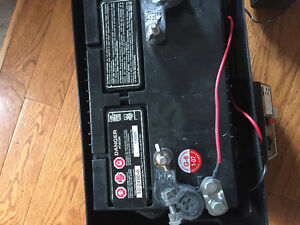 Sump pump with battery back up sump pump