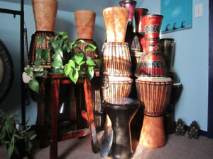 djembes from Ghana, West Africa for sale