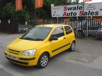 2003 HYUNDAI GETZ 1.1 GSI 3 DOOR FANTASTIC LITTLE FIRST TIME DRIVER CAR
