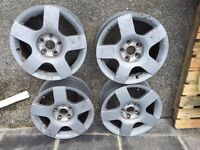 16 inch Audi alloy wheels x 4