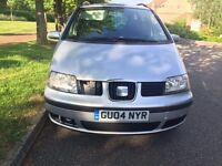Seat Alhambra 1.9 TDI 2004 1 year MOT great MPV 6 speed Diesel drives very well