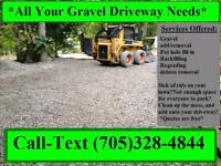 Gravel driveway services
