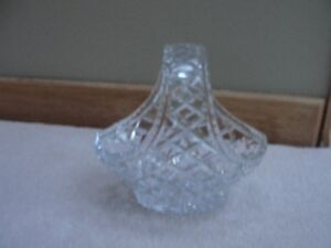Beautiful cut glass candy/fruit dish/ Coalport shell dish