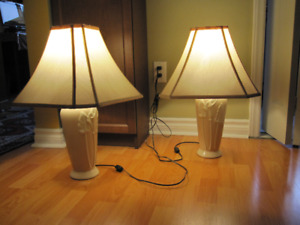 "Two Table Lamps   24"" height"
