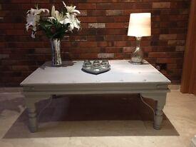 Large rustic farmhouse coffee table