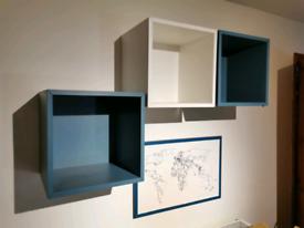3 IKEA floating box shelves £20 ono