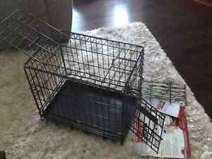 """2 door Small dog/animal crate dimensions 19"""" L x 12""""W x 14""""H"""