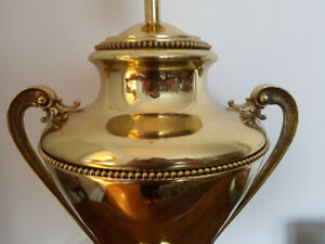 Antique Solid Brass Lamp - Reduced