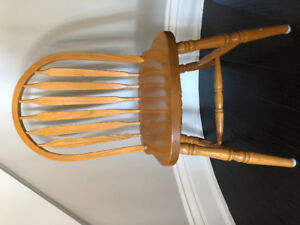 6 oak dining chairs-Mennonite built