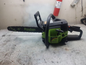 Trade...  Brand new Poulan P3816 Chainsaw & case, for Snowblower