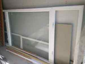 Large Vinyl Pane Window with 2 crank style windows