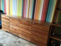 Sideboard - Contemporary Solid Teak Sideboard Dining Room Furniture