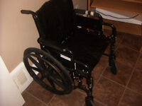Fold-up Wheelchair, Extra WIDE Seat-21 inches