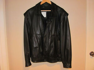 Protocol Black Leather Jacket