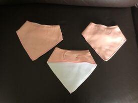 Brand New Pink baby bandana bib 3 pieces