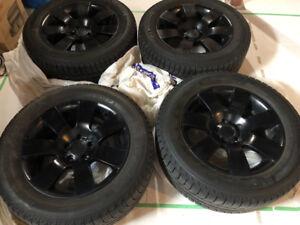 """18"""" Michelin X-Ice Winter Tyres on Matt Black Alloys"""