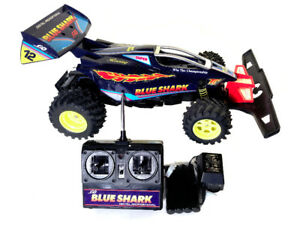 Rare Vintage 1995 Radio Shack Blue Shark R/C Car Buggy - Working