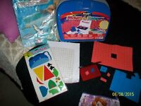 Kids craft case with stamps,stamp pad etc plus extra stuf $10.00