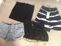 Bundle of women's shorts and skirts, most brand new size 12