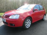 05/55 VOLKSWAGEN GOLF 2.0 GT TDI 5DR HATCH IN RED WITH SERVICE HISTORY