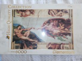 Clementoni 6000 piece Jigsaw puzzle creation of man
