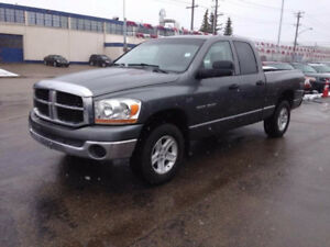 2006 RAM 1500 Q/cab 4x4 SLT>>>WE FINANCE BAD CREDIT <<<