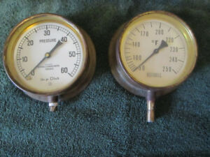 VINTAGE BESTOBELL BRASS GAUGES price is for the pair